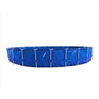 Cheap 40000L Collapsible PVC Tarpaulin Round Fish Tank for sale