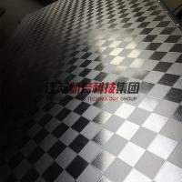 Cheap Galvanzied / Chrome Surface Stainless Steel Press Plates With Leather Pattern for sale
