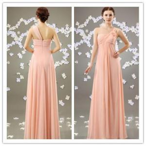 Cheap One Shoulder Fashion Chiffon Formal Evening Dress (OGT026E) for sale