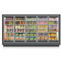 Cheap Large Display Remote Compressor Commercial Freezer Glass Door With Adjustable Shelving for sale