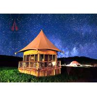 Fire Retardant Large Permanent Glamping Tents , Eco Material Permanent Tent Homes