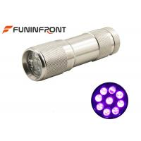 Cheap MINI Portable 395nm UV LED Flashlight Works with 3*aaa Battery Currency Detector for sale