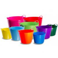 China 12 / 25 / 35 / 42 Liter Colorful Plastic Shopping Basket with Two-handle for Indoor and Outdoor on sale