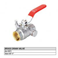 "China 1/2"" brass drain valve on sale"