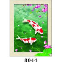 Cheap Lovely Fish Painting 5D Pictures With PVC / MDP Frame CMYK Colour for sale