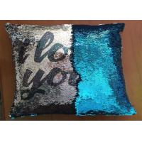 China Popular Fashion Custom Logo Reversible Sequin Pillow I Love You Word Printing Pillow Cases For Holiday Gifts on sale