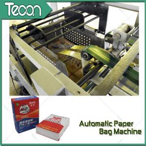 Cheap 3 Layer Gypsum Powder Valve Paper Bag Making Machinery With Ladder Cutting wholesale