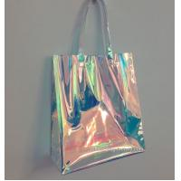 Cheap Rainbow Laser Hologram Travel Cosmetic Handbag Rainbow Laser PVC Tote Bag Rainbow Laser Shoulder Bag for sale
