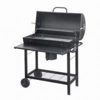 Cheap Deluxe large size braai charcoal barbecue grill with table for sale