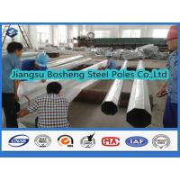 Customized Height Hot Dip Galvanized Steel Pole one section Welding 3mm Thickness