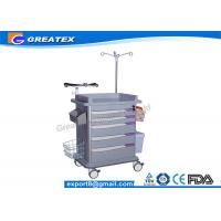 Buy cheap ISO Quality 5 Drawers Emergency Medical Trolley crash cart utility trolley from wholesalers