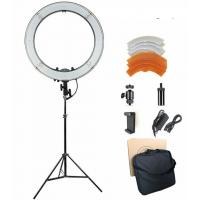 Cheap 18 inches 3200-5600K Dimmable LED Ring Light Kit for Portrait Makeup Video Shooting for sale