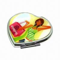 Cheap Heart-shaped Fashionable Mirror, Ideal for Ladies for sale