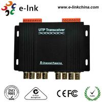 Cheap 8 Channel Passive CCTV UTP Video Balun Transceiver Differential Signal Transmission for sale