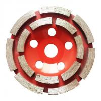 """Cheap 7"""" Double Row Diamond Cup Grinding Wheel For Stone Tools Grinding Granite for sale"""