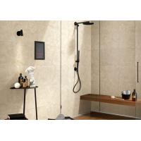 Cheap Beige Color Marble Porcelain Tile For Bathroom Shower Low Absorption Rate for sale