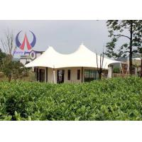 Cheap Prefabricated Luxury Tent Hotel With Membrane Roof Simple Decoration wholesale