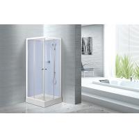 Cheap Waterproof White Painted Profiles Glass Shower Cabins , Glass Shower Stall Kits for sale