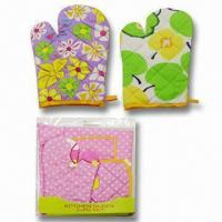 Cheap Oven Gloves, Made of 100% Cotton, Various Designs are Available for sale