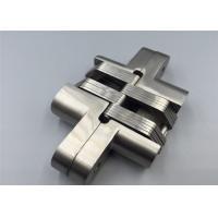 China Self Closing Mortise Mount 180 Degree Hidden Hinge Stainless Steel With Spring Inside on sale
