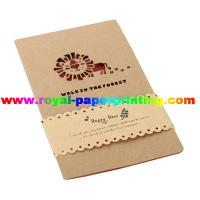 Cheap customize die cutting and colorful printed paper cards/greeting cards for sale