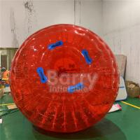 Cheap Red Outdoor Inflatable Toys 0.8mm PVC / TPU Dia 2.5m 3m Grass Inflatable Zorb Ball for sale