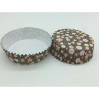 Cheap Round Flower Printed Cupcake Liners, Disposable Muffin Paper Cups Heat Resistant for sale