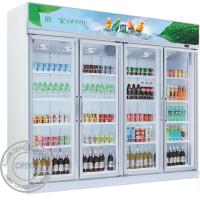 Cheap OP-A406 US Standard Copper Evaporator Glass Doors Supermarket Energy Drink Fridge for sale