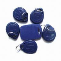 Cheap Plastic RFID Key Fobs, 0.8 to 1.2mm Thickness for sale