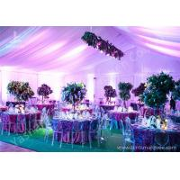 Cheap Decoration Outdoor Aluminum Wedding Reception Tents Colorful Lighting / Lining wholesale