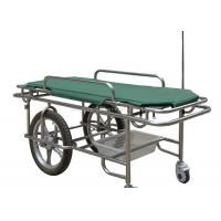Cheap Height Fixed Ambulance Stretcher Trolley 180kg Load Capacity Two Large Wheels for sale