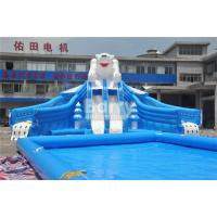 Cheap Outdoor Bear Giant Inflatable Water Park With EN14960 0.55mm PVC Tarpaulin Material for sale