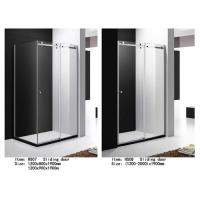 Cheap Tempered Glass Shower Door Enclosures With Top Roller One Side Sliding Door for sale