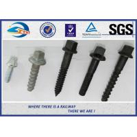 Buy cheap Railway Sleeper Screws spike Fasteners 90 degree without crack TUV from wholesalers