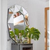 China Multi Bevelled 3D Wall Mirror Decoration Mirrored Glass Panel Light Weight on sale