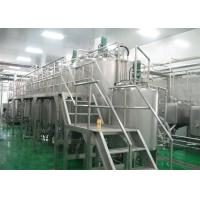 Cheap Complete Fully Automatic Bottled Fruit Juice Processing Line For 2T / D - 500 T / D for sale
