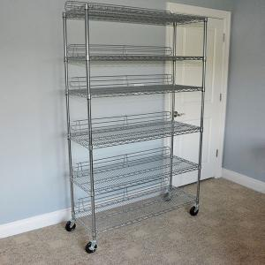 China Chrome Plated NSF Wire Shelving Unit Industrial Heavy Duty 6 Layer Storage Wire Rack Shelving on sale