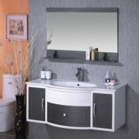 Cheap Fashion home decoration PVC furniture bathroom cabinet/hand/face wash vanity with basin sink for sale