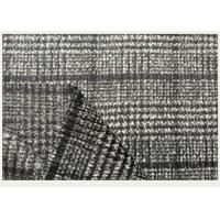 Cheap Wool Coating Fabric With Tartan , Black And White Houndstooth Fabric ISO9001 for sale