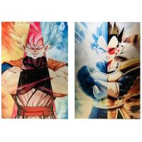 Cheap 3D Flip Lenticular Anime Poster Printing Dragon Ball / 3 Dimensional Pictures for sale