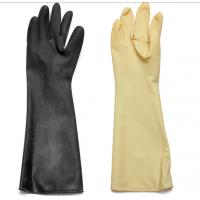 China Abrasion / Chemical Resistant Hand Protection Gloves Long Sleeves Natural Latex / Rubber on sale