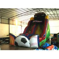 Cheap Exciting Inflatable commercial dry slide football sport games themed inflatable standard slide for sale
