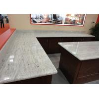Cheap Gray White Indian Granite Kitchen Counter Tops , Household Granite Kitchen Worktops for sale