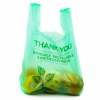 China 100 % Biodegradable Vegetable Bags , Custom Plastic Bags With Handles on sale