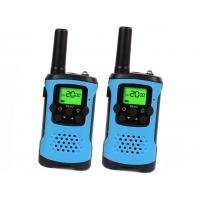 China UHF Rechargeable Two Way Radios Blue Color For Travel / Camping / Hiking on sale