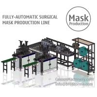 Cheap Fully-automatic Medical Surgical Mask Making Machine Production Line for sale