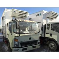 Cheap Commercial Truck Refrigerators 5 Tons With FRP Sandwich Panels Box , Refrigerated Box Truck for sale