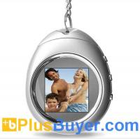 Cheap PictureMax P1 - 1.5 Inch Keychain Digital Photo Frame with Clock - Silver for sale