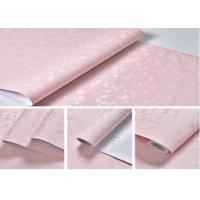 Cheap Washable Floral Self-Adhesive Wallpaper , Pink Color 61cm * 50m for sale