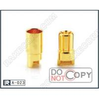 Cheap 50pcs 6.0MM Side  Gold Plated Banana Plug For Motor , Battery , ESC , Wire connector for sale